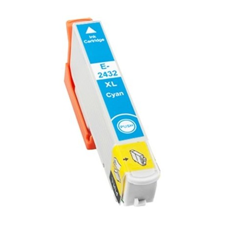 Tinta compatible Epson T2432 - T2422 (24XL), color cyan