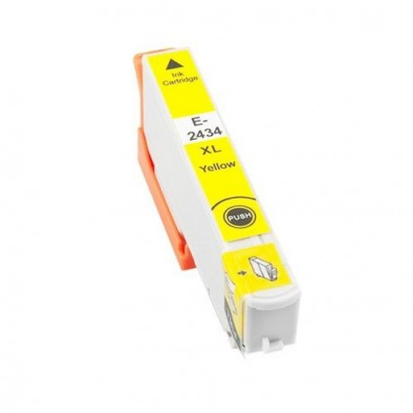 Tinta compatible Epson T2434 - T2424 (24XL), color amarillo