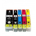 5 x Tinta compatible Epson T3351, T3361, T3362, T3363, T3364 (33XL), color BK, BK PHOTO, C, M, Y