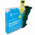 Cartucho de tinta compatible Brother LC985XL, color cyan
