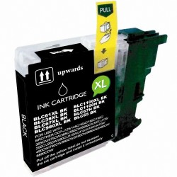 Cartucho de tinta compatible Brother LC980 XL, LC1100 XL , color negro