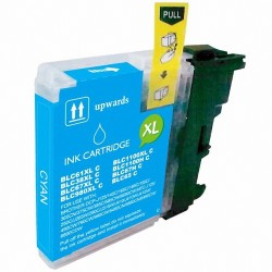 Cartucho de tinta compatible Brother LC980 XL, LC1100 XL, color cyan