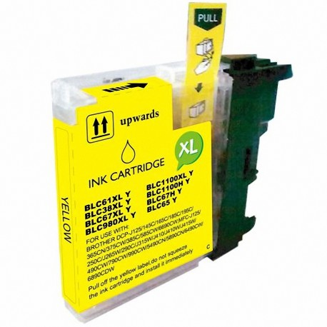 Cartucho de tinta compatible Brother LC980 XL, LC1100 XL, color amarillo