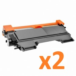 2 x Tóner compatible Brother TN2220, TN2210, TN2010, TN450, color negro
