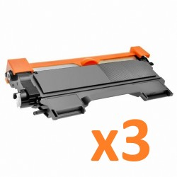 3 x Tóner compatible Brother TN2220, TN2210, TN2010, TN450, color negro
