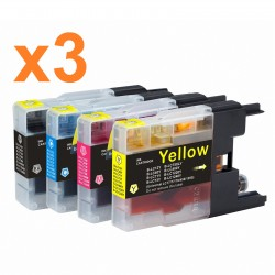PACK 12 GENERICO IMPRESORA BROTHER DCP SERIES J925DW LC1280 LC1240 LC1220