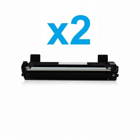 2 x Tóner compatible Brother TN1050, color negro