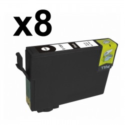8 x Tinta compatible EPSON T1281, color negro