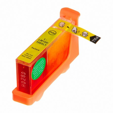 Tinta compatible Lexmark 100XL, color amarillo