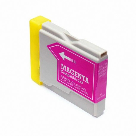 Cartucho de tinta compatible Brother LC1000 XL, LC970 XL, color magenta