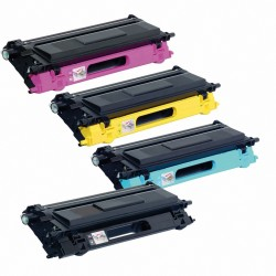 4 x Tóner compatible Brother TN130, TN135, color BK, C, M, Y