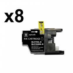 8 x Tinta compatible Brother LC1220 XL, LC1240 XL, color negro
