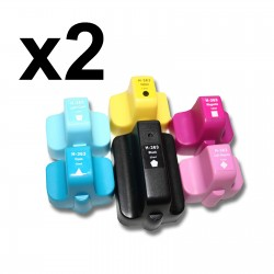 12 x Tinta compatible HP 363XL, color BK, C, M, Y, CL, ML