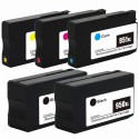 5 x Tinta compatible HP 950XL y HP 951XL, color BK, C, M, Y