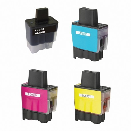 4 COMPATIBLES BROTHER LC 900 LC900 MFC-210C MFC-215 MFC-410 MFC-410C MFC-410CN