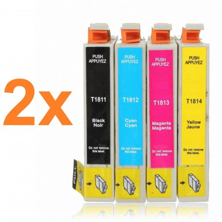 PACK 8 TINTAS COMPATIBLE T18XL