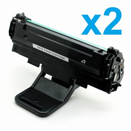 2 x Tóner compatible Samsung ML1640, ML2240, color negro