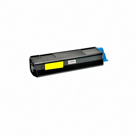 Tóner compatible OKI C5600, C5700, color amarillo