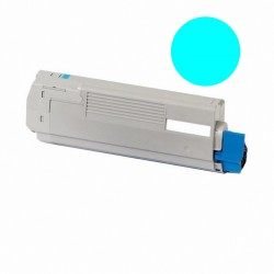 Tóner compatible OKI C5850, C5950, MC560, color cyan