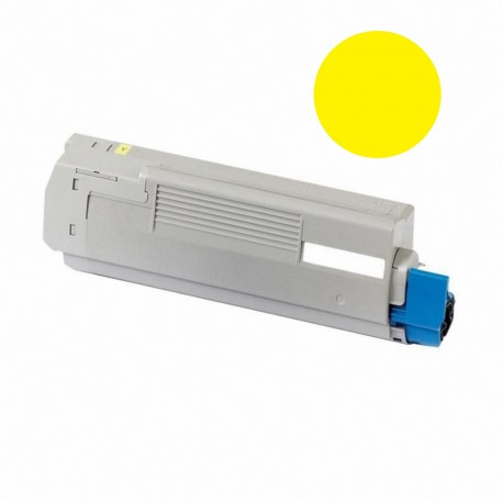 Tóner compatible OKI C5850, C5950, MC560, color amarillo