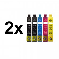 10 x Tinta compatible 16XL (T1631, T1632, T1633, T1634), color BK, C, M, Y