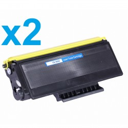 2 x Tóner compatible Brother TN3060, TN6600, TN7600, color negro