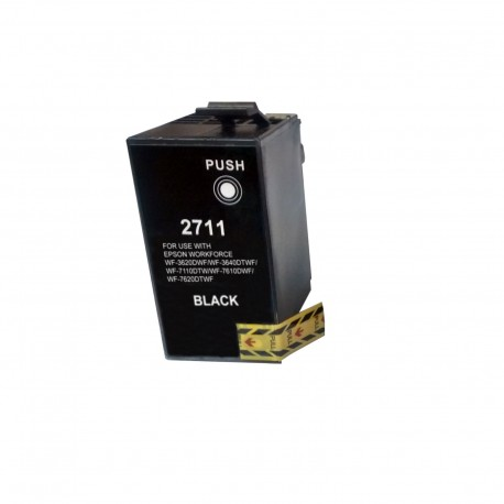 Tinta compatible Epson T2711, T2701 (27XL), color negro