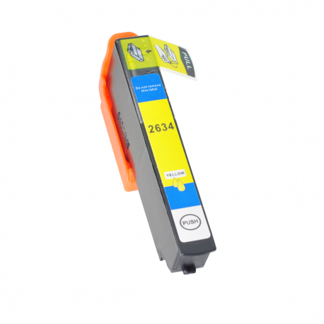 Tinta compatible Epson T2634, T2614, 26XL, color amarillo