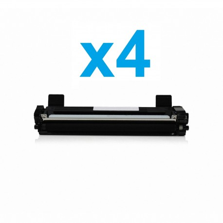 4 x Tóner compatible Brother TN1050, color negro