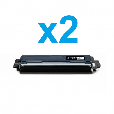 2 x Tóner compatible Brother TN241, TN242, color negro