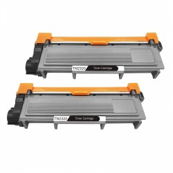 2 x Tóner compatible Brother TN2310, TN2320, color negro