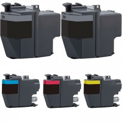 5 x Tinta compatible Brother LC3217, color BK, C, M, Y