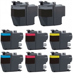 8 x Tinta compatible Brother LC3217, color BK, C, M, Y